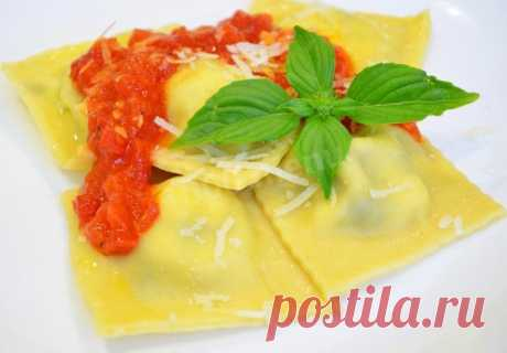Равиоли с сыром и шпинатом рецепт с фото пошагово - 1000.menu