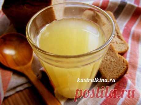 Рецепт вкусного домашнего хлебного кваса из бородинского хлеба без закваски, с пошаговыми фото