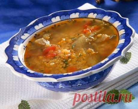 Суп из чечевицы с баклажанами — Фактор Вкуса