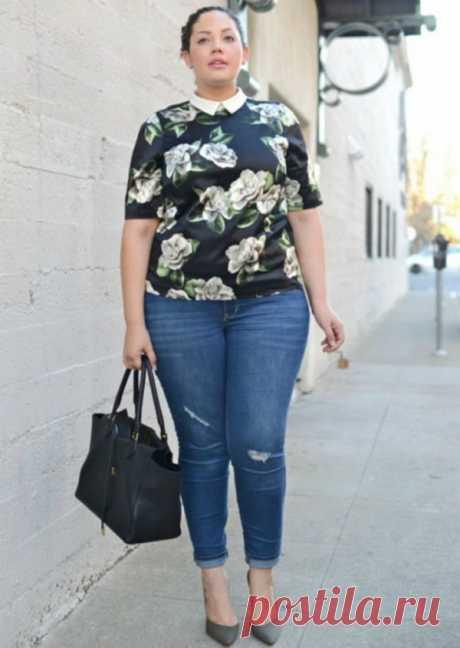 Модные джинсы для полных женщин после 40 лет | Люблю Себя