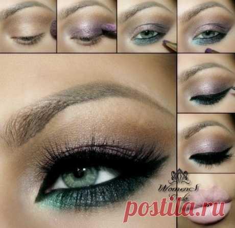 Фотоуроки макияжа зеленых глаз | Женское кредо