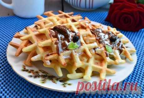 Рецепт хрустящих вафель на маргарине в вафельнице - 8 пошаговых фото в рецепте