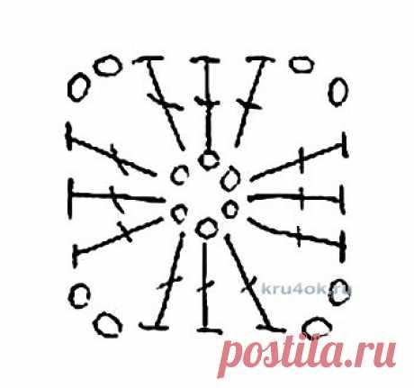 Ажурный плед связанный крючком Калейдоскоп. Работа Светланы Шевченко
