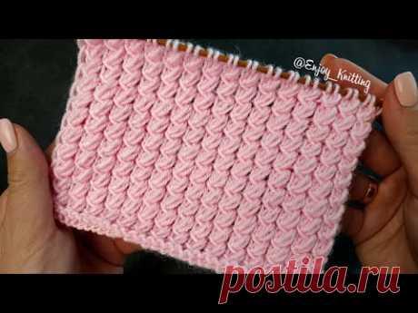 НЕЖНЫЙ и ПРОСТОЙ Узор Спицами | Sweet and Easy stitch knitting pattern tutorial