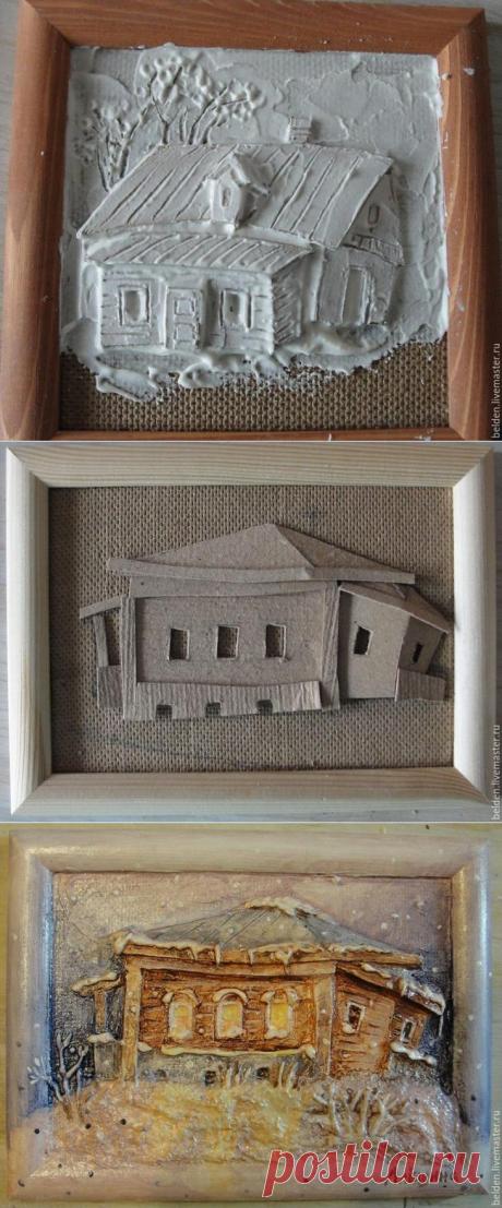 Объемные картины из картона