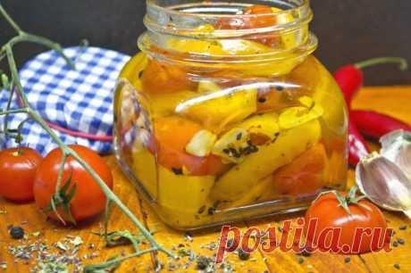 Конфи из жёлтого перца с помидорами черри. Пошаговый рецепт с фото - Ботаничка.ru