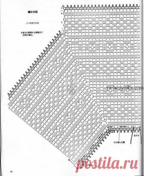 Кофточка филейной вязкой схемы. Модели крючком из азиатских журналов