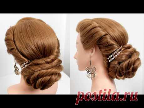Party hairstyles. Hairstyles for medium&long hair. Low bun. Bridal hairstyle [Hair tutorial]