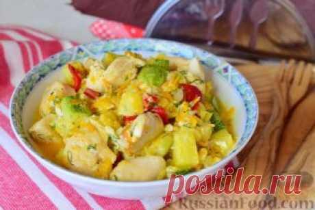 Рецепт: Овощи, тушенные с куриным филе на RussianFood.com
