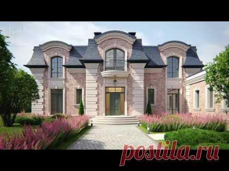 Проект дома во французском стиле
