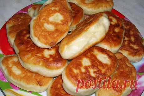 Быстрое тесто на кефире для пирожков с начинкой из фарша и риса ⋆ Хозяюшка