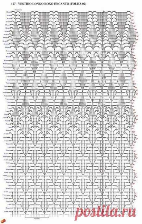 Схемы для вязания вещей в смешанной технике (крючок+спицы)