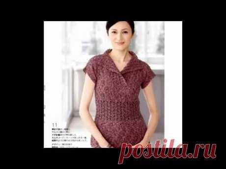 Красивые модели из Журнала Lets Knit Series 2011 / Обзор / Схемы в описании - YouTube
