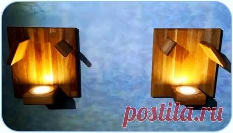 Рассеивающий светодиодный настенный светильник из дуба