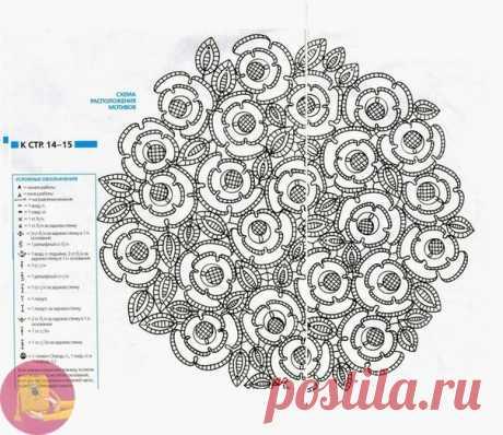 Салфетка: восхитительная прелесть белых роз — DIYIdeas