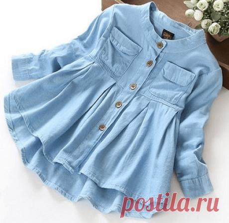 Выкройка детского платья-рубашки (Шитье и крой) – Журнал Вдохновение Рукодельницы