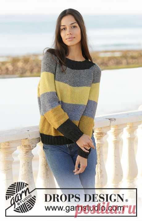 Джемпер Bee Stripes - блог экспертов интернет-магазина пряжи 5motkov.ru