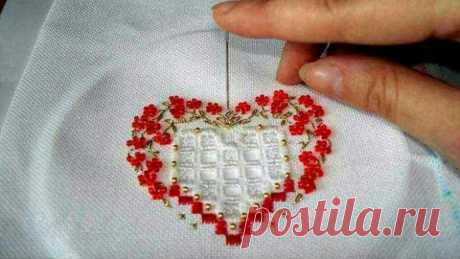 Сердечные идеи вышивки