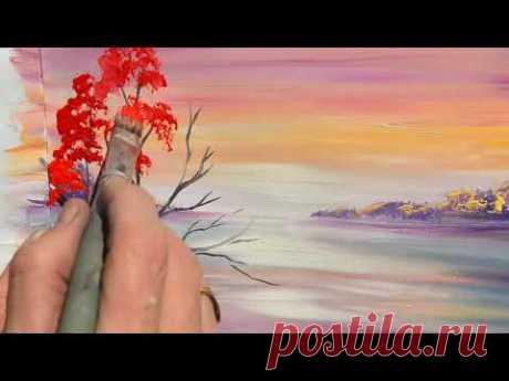 Правополушарное рисование — видео урок «Осенний пейзаж». Экспресс-урок от арт-студии «Живые картины» - YouTube