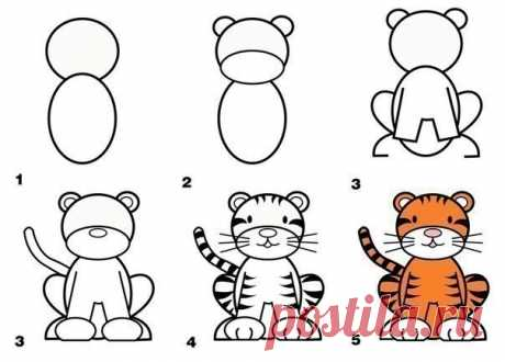 Простые уроки рисования — Поделки с детьми