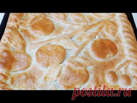 Печем ВКУСНЫЙ яблочный ПИРОГ! Пирог С ЯБЛОКАМИ и вишней.