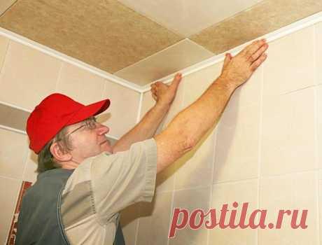 """Красивый потолок из """"немодной"""" пенополистирольной плитки"""