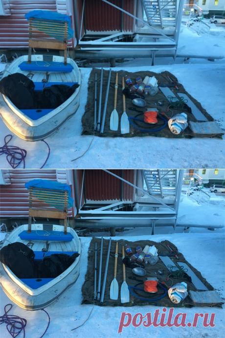 Mann, der die Beringstraße in Beiboot überquerte, aus Russland deportiert - boat