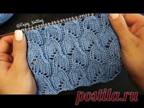 КРАСИВЫЙ Ажурный Узор Спицами | How to knit openwork stitch pattern - YouTube