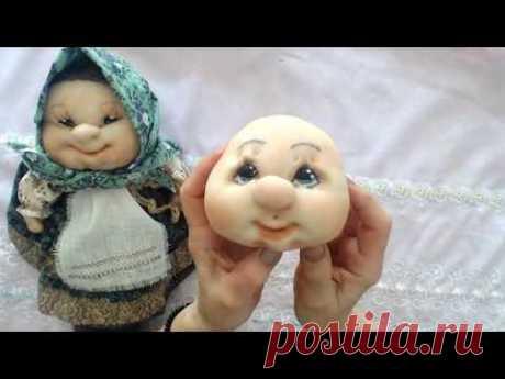 Как сделать голову куклы из капрона. Мастер класс лицо куклы из колготок.Muñeca soft