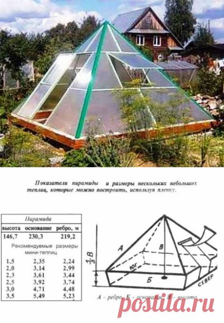 Теплица в форме пирамиды — 6 соток