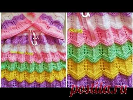 डिजाइनर फ्रॉक बनाये बची हुई ऊन से/Simple Colourful Jali Frock For Girls:Design-218