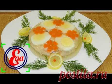 Эффектное, яркое и вкусное блюдо на праздничный стол. Заливное из куриной грудки.