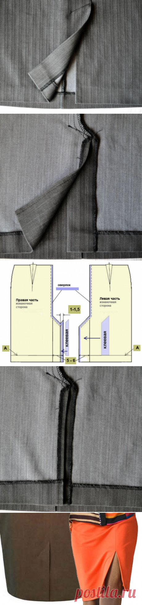 Шлица на юбке   Технология обработки шлицы на юбке