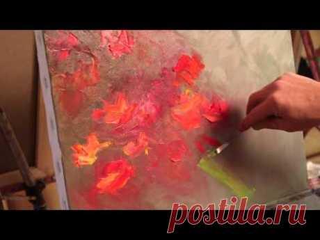 Живопись маслом. Макс скоблинский Курсы. как рисовать цветы букет.Бесплатно oil painting lesson