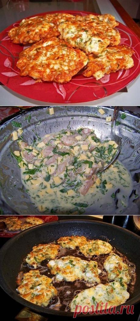 Как приготовить куриные оладьи с сыром на кефире - рецепт, ингридиенты и фотографии