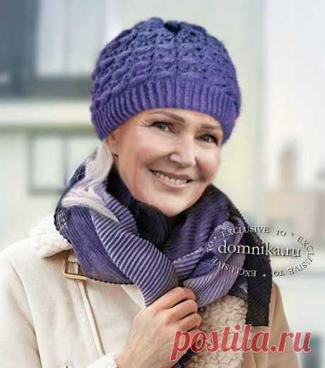 6 вязаных шапок спицами для женщин старше 60 лет для пенсионеров