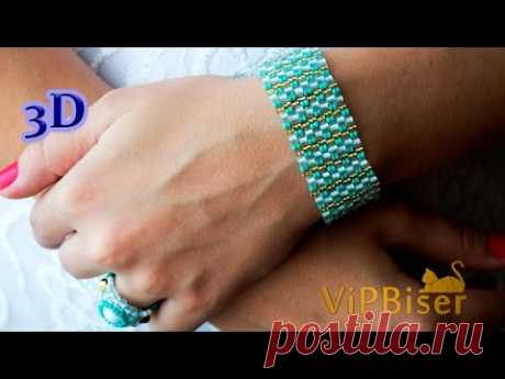 Tutorial shows how to make Beaded Bracelet Turquoise with Preciosa seedbeads. Beading Technique: Peyote Stitch. Beaded Jewelry. Patterns and photos: https://w...