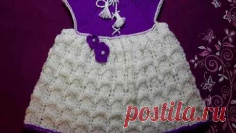 2-Платье сарафан для девочки ростом от 75см/baby dress knitting needles