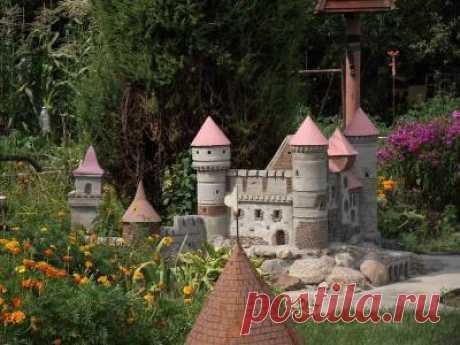 Декоративный замок для сада своими руками .Подробно,фото,чертежи.