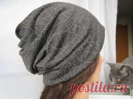 Шьем шапку-чулок из трикотажа — Рукоделие
