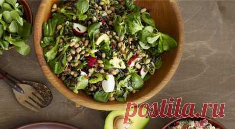 Салат с диким рисом и авокадо, пошаговый рецепт с фото