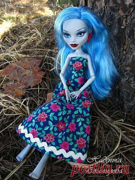 Сарафан для куклы Monster High Школа монстров   Самошвейка - сайт для любителей шитья и рукоделия