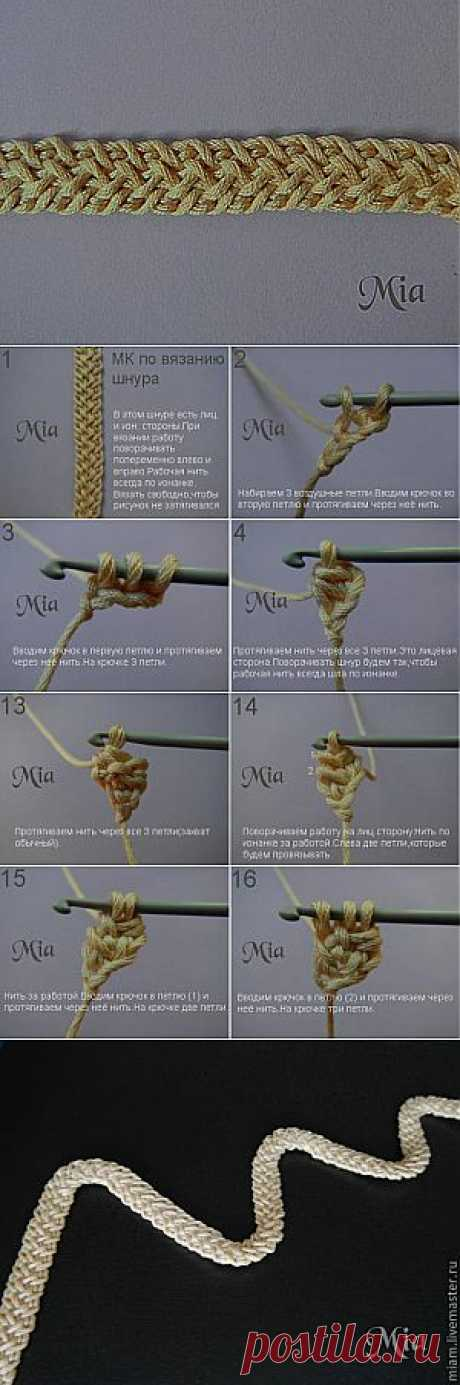 Master class in knitting of a cord - the Fair of Masters - handwork, handmade