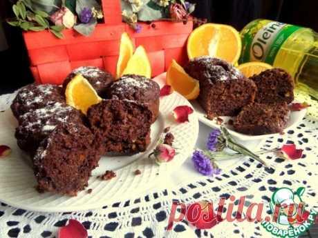 Шоколадные маффины с апельсином - кулинарный рецепт