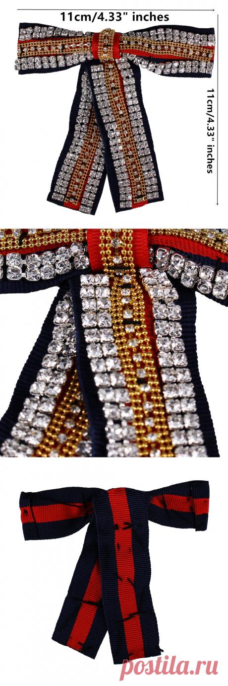 5 штук Бусины Алмазный бантом Ткань Нашивки группа аппликация мотив Значки для воротник Броши оголовье украшено Вышивание th826 купить на AliExpress