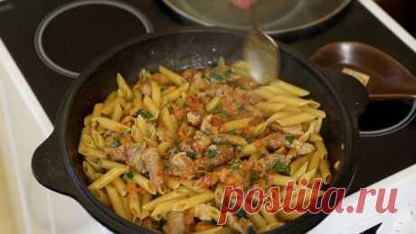 «Татарские макароны»: делаю так уже лет 25, сухие макароны прожариваю на сухой сковороде