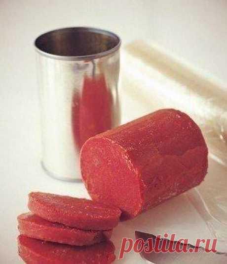 Как хранить томатную пасту. Очень часто, для приготовления блюда, мы используем всего лишь 1-2 ложки ...