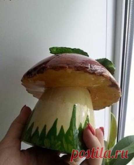 Мастерим грибочки из гипса для декора  Лови мастер-класс!