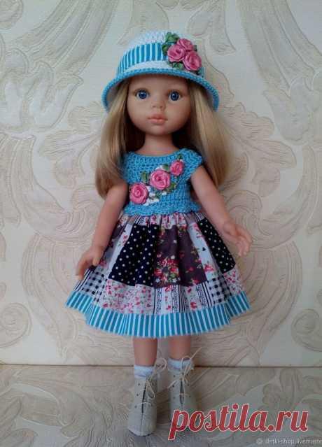 Платье и шляпка для кукол Паола Рейна. – купить в интернет-магазине HobbyPortal.ru с доставкой