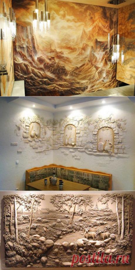 Объемное украшение стен — Наши дома